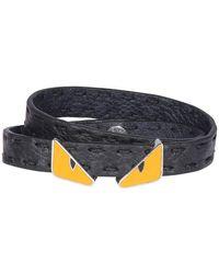 Fendi Two-tone Bracelet - Black