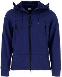C.P. Company Zipped Hooded Jacket - Blue
