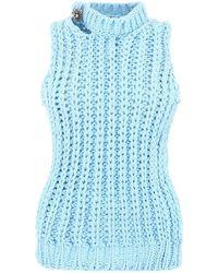 CALVIN KLEIN 205W39NYC Sleeveless Ribbed Vest - Blue
