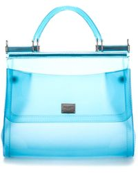 Dolce & Gabbana Sicily Top Handle Bag - Blue