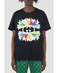 Gucci - Interlocking G Star Burst Print T-shirt - Lyst