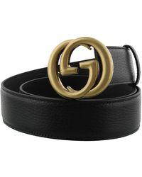 Gucci - Interlocking G Buckle Belt - Lyst