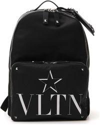 Valentino Vltn School Backpack - Black