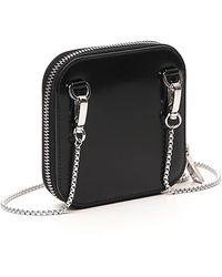 Prada Chained Mini Pouch Bag - Black