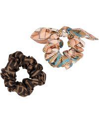 Fendi Hair Elastics Scrunchie Set - Multicolour