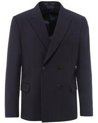 Valentino Double-breasted Blazer - Blue