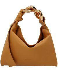 JW Anderson Chain Link Detailed Small Hobo Bag - Brown