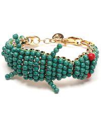 Lanvin Crocodile Bracelet - Green