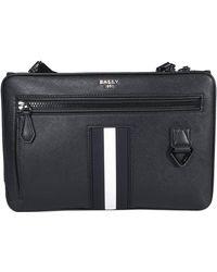 Bally Logo Plaque Messenger Bag - Black