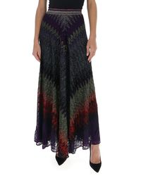 Missoni Glittered Maxi Skirt - Black