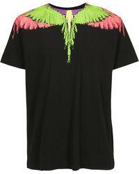 Marcelo Burlon Glitch Wings Print T-shirt - Black