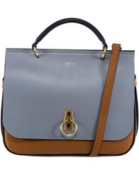 Mulberry Amberley Two-tone Top Handle Bag - Blue