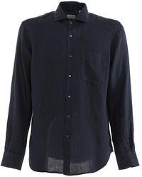 Aspesi Slim-fit Classic Shirt - Blue