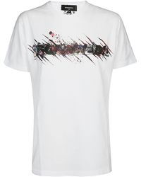DSquared² Printed T-shirt - White
