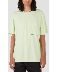 OAMC Chest Pocket Crewneck T-shirt - Yellow