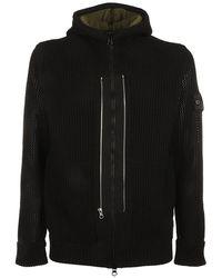 Stone Island Shadow Project Drawstring Hooded Jacket - Black