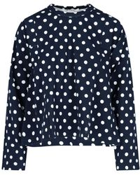 Comme des Garçons Polka Dot Sweatshirt - Blue