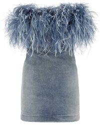 Saint Laurent Denim Mini Dress Nd - Blue