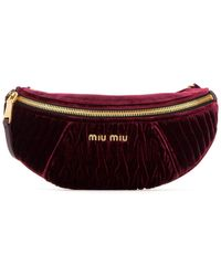 Miu Miu Logo Belt Bag - Red
