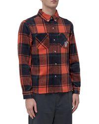 BBCICECREAM Button-up Plaid Shirt - Multicolour