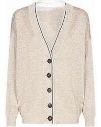 Brunello Cucinelli Buttoned V-neck Cardigan - Natural