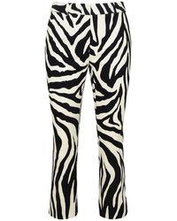 Sportmax Pantalone Bu In Drill Di Cotone Stretch Multicolore - Black