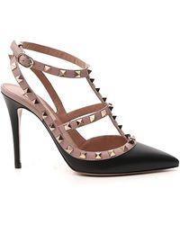 Valentino Garavani Rockstud Slingback Court Shoes - Black