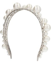 Givenchy Pearl Embellished Headband - Metallic