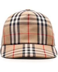 Burberry Vintage Check Baseball Cap - Natural