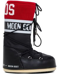 Gcds Logo Knitted Band Moon Boots - Multicolor