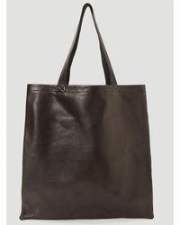 Rick Owens Logo Embossed Tote Bag - Black