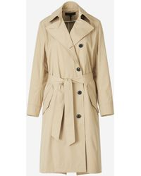 Rag & Bone Asymmetric Buttoned Trench Coat - Natural