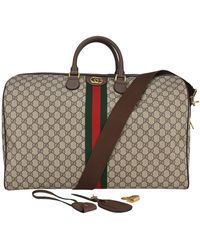 Gucci Large Ophidia GG Supreme Carry-on Bag - Brown