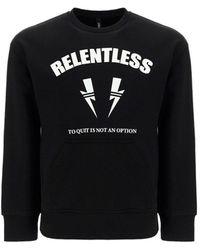 Neil Barrett Relentless Sports Bolt Crewneck Sweatshirt - Black