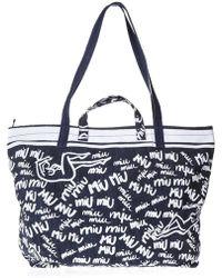 Miu Miu - Doodle Tote Bag - Lyst