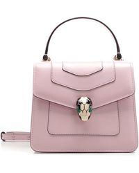 BVLGARI Serpenti Forever Crossbody Bag - Pink