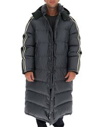 Gucci GG Supreme Side Striped Puffer Coat - Gray