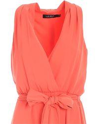 Lauren by Ralph Lauren Midi Dress - Pink