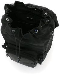 Prada Triangle Logo Backpack - Black
