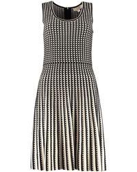 MICHAEL Michael Kors Geometric Striped Dress - Black