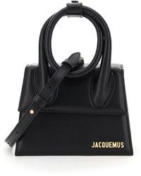 Jacquemus Le Chiquito Noeud Top Handle Bag - Black