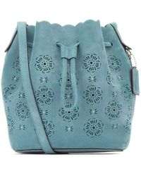COACH Drawstring Bucket Bag - Blue