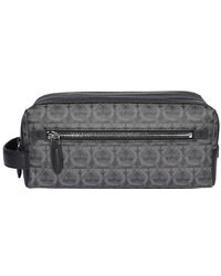 Ferragamo - Gancini Printed Toiletry Bag - Lyst