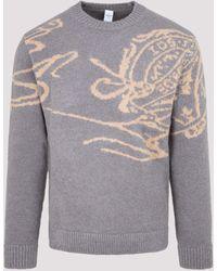 Berluti Crewneck Knit Sweater - Grey