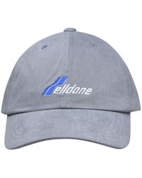 we11done Logo Embroidered Baseball Cap - Gray