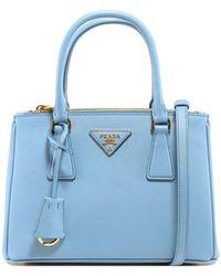 Prada Galleria Mini Tote Bag - Blue