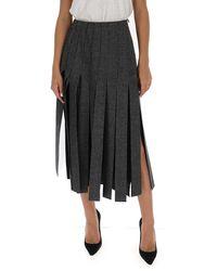 Prada Pleated Skirt - Gray