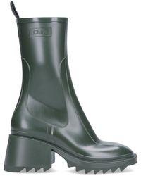 Chloé Betty Rain Boots - Green