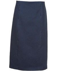 Fendi - Pinstriped Pencil Skirt - Lyst