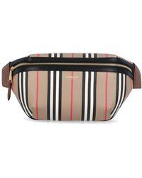 Burberry Icon Stripe Sonny Bum Bag - Black